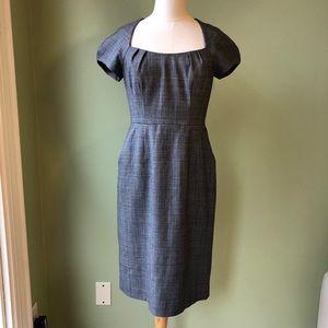 Banana Republic Stretch Grey Wool Sheath Dress